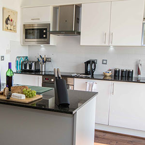 Kitchen Area photo of inside cottage - Kokopelli Holiday Cottage in Sidmouth, Devon